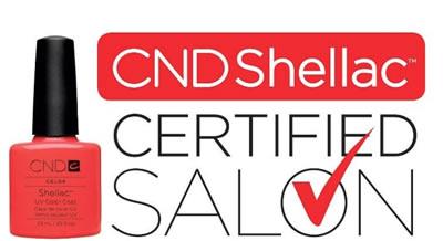 Certificado centro autorizado shellac mo estetica valdemoro